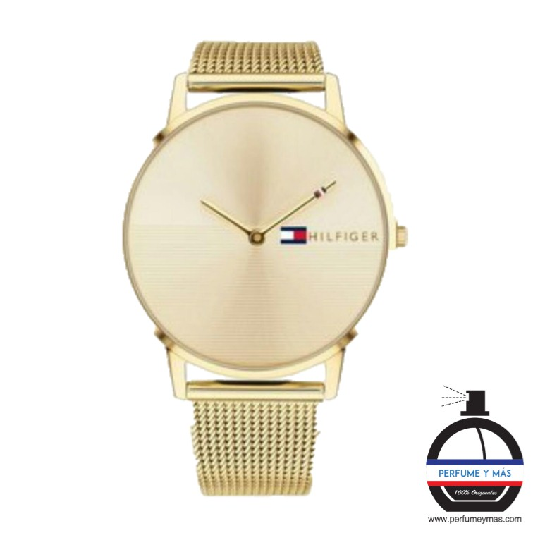 máximo Empeorando Imperial  Reloj Tommy Hilfiger Brazalete Dorado for Man - PERFUME Y MÁS